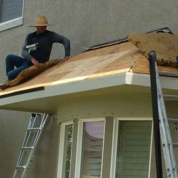showing decking replacement canoe